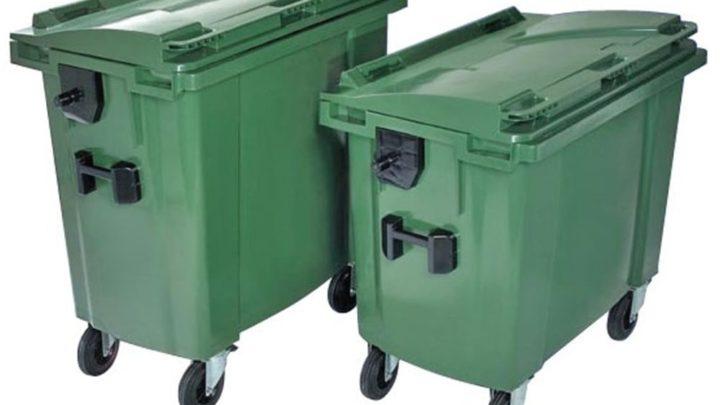 660 lt Plastik Çöp Konteyneri